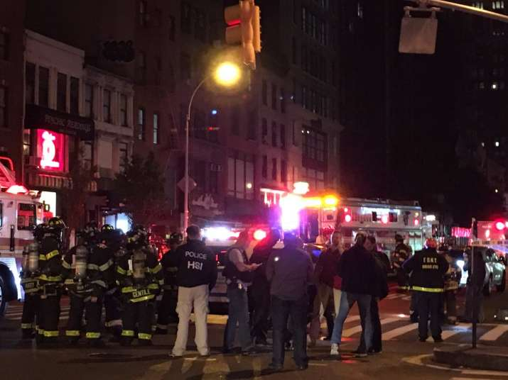 Explosion in Chelsea district of Manhattan in New York