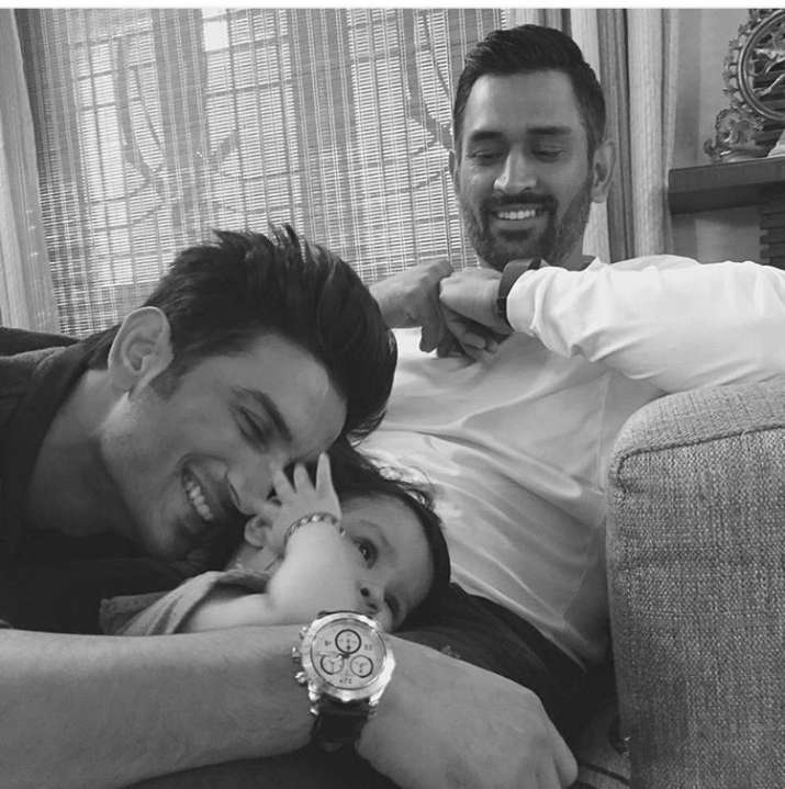 Cute Click! Baby Ziva Playing With Sushant Singh Rajput As