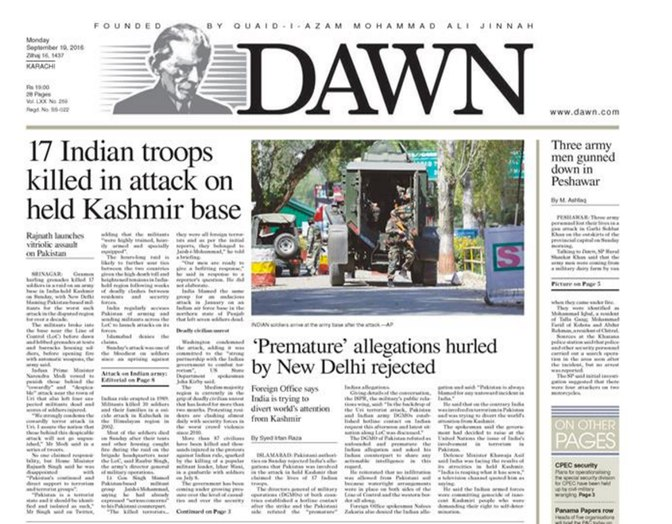 India Tv - Uri attack coverage in the Dawn