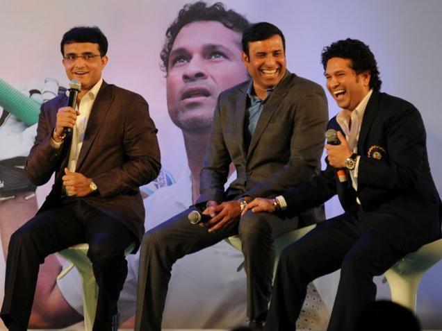 Sourav Ganguly with Tendulkar and Laxman