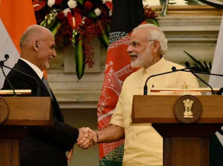 Afghan President Ashraf Ghani with PM Narendra Modi in Delhi