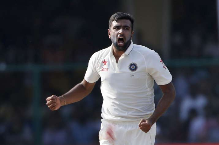 Ashwin celebrates wicket of Kane Williamson on 4th day of