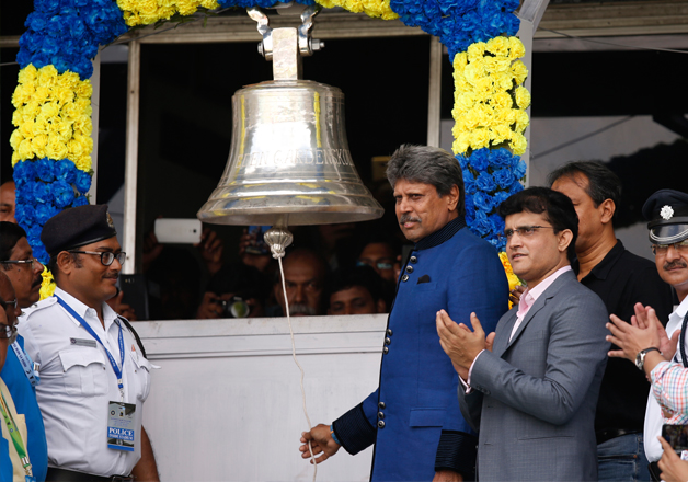 Kapil Dev rings a Lords like bell, installed at the Eden