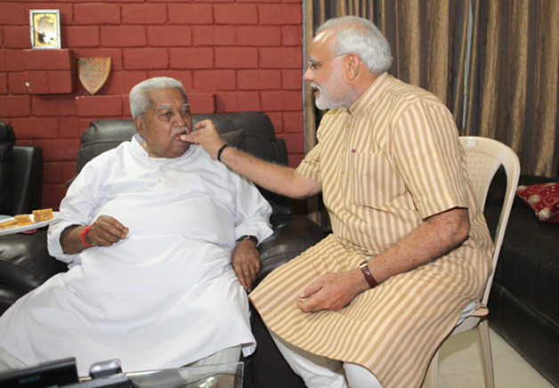 India Tv - Keshubhai Patel and PM Narendra Modi