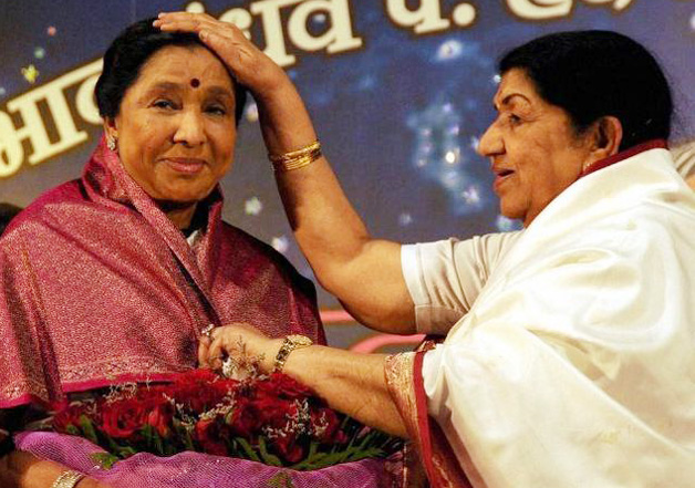 Lata Mangeshkar sends blessing to Asha Bhosle on her