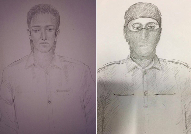 police release sketch of masked men spotted in Uran