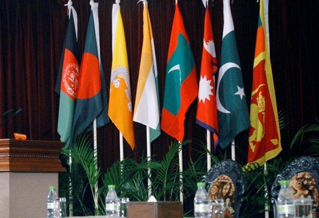Flags of all SAARC member countries
