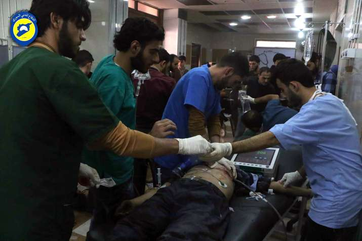 India Tv - Syrian and Russian airstrikes have killed hundreds in Aleppo