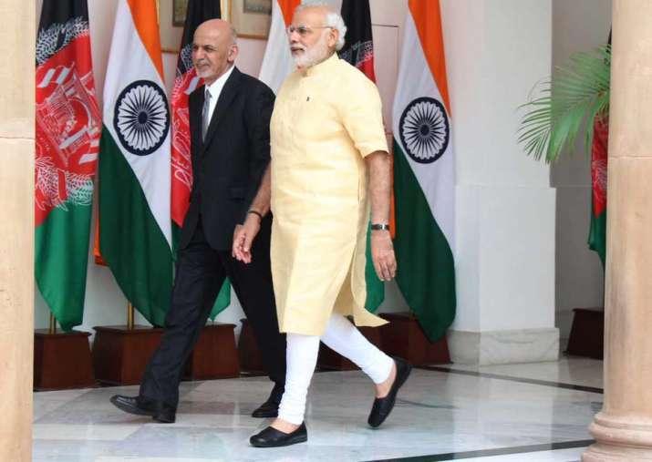 Afghan President Ashraf Ghani today met Prime Minister
