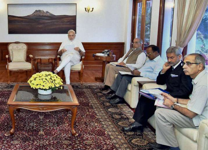 Prime Minister Narendra Modi at a meeting to review Indus