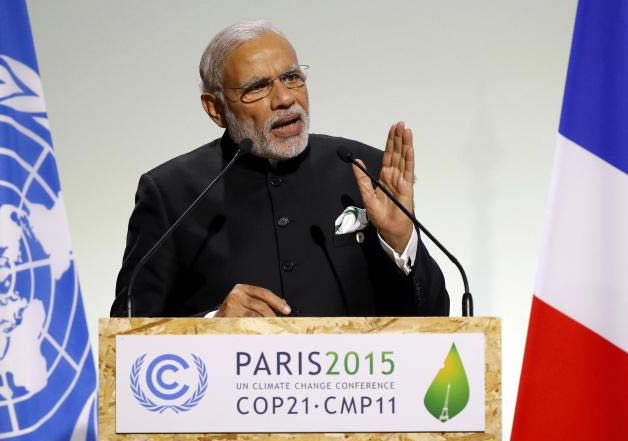 PM Modi at World Climate Change Conference 2015 in Paris