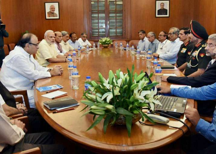 PM Modi chairing CCS meeting on the situation on LoC, in