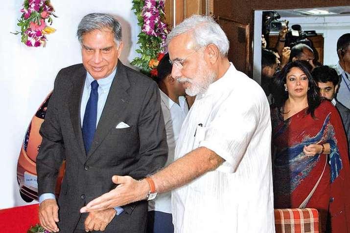 Ratan Tata with PM Modi