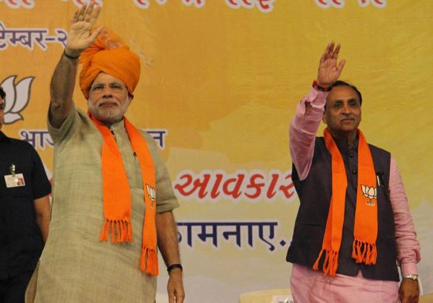 Prime Minister Narendra Modi and Gujarat CM Vijay Rupani