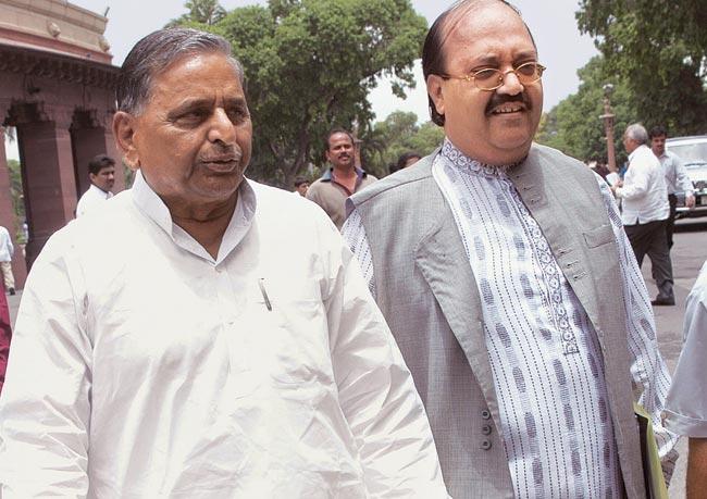 Mulayam Singh Yadav and Amar Singh
