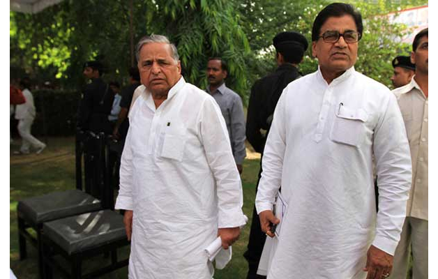 India Tv - Mulayam Singh Yadav and Shivpal Singh Yadav