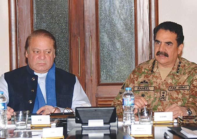 Pakistan PM Nawaz Sharif and Army chief Raheel Sharif