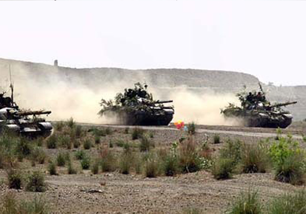 Pak Army tanks seen participating in joint exercise near