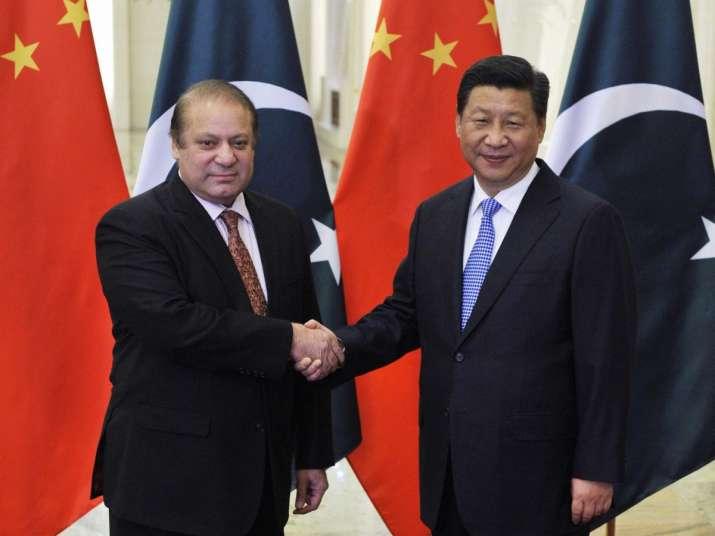 Nawaz Sharif with Xi Jinping