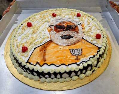 India Tv - PM Modi's Birthday Cake | India TV