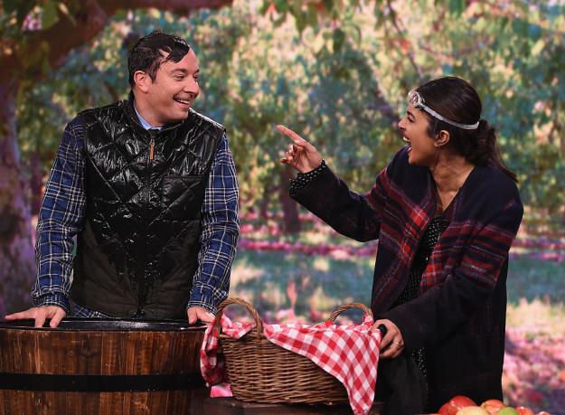 India Tv - Priyanka and Jimmy Fallon