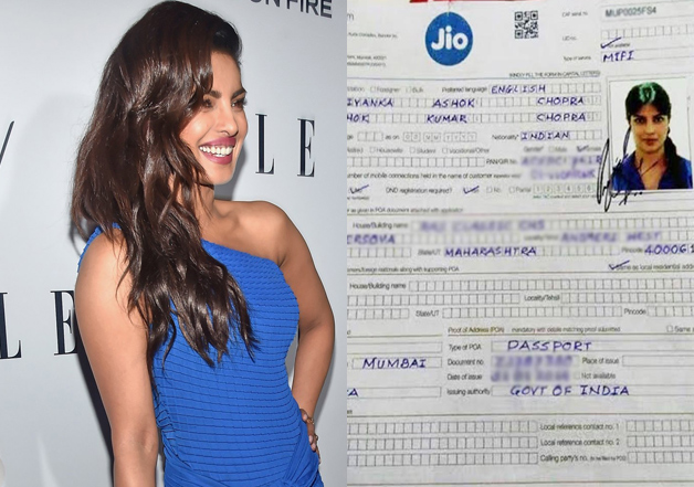 Priyanka's viral subscription form for Reliance Jio could