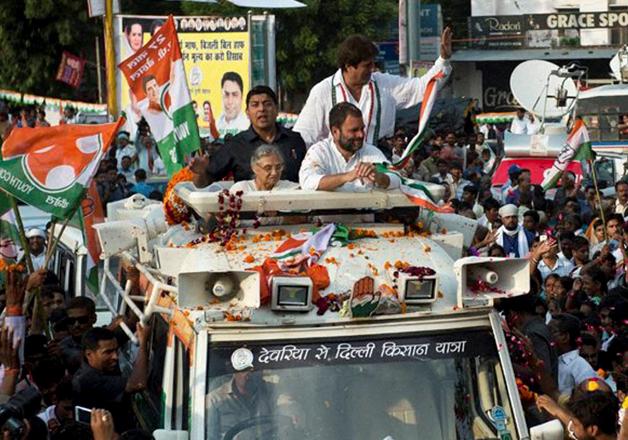 Rahul Gandhi roadshow in UP
