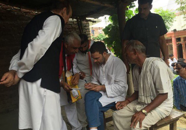 Rahul Gandhi kicks off 2,500 km Kisan Yatra from Deoria