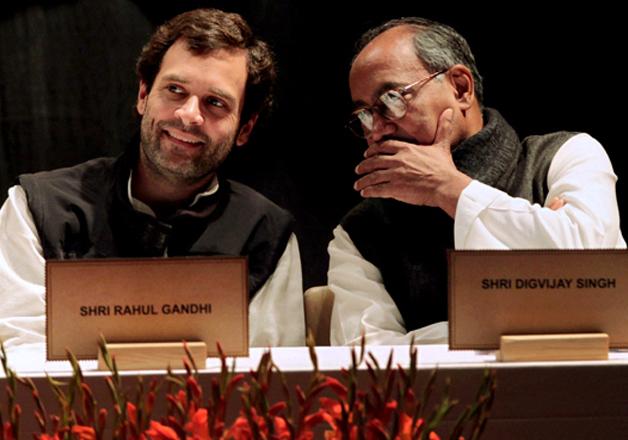 Rahul Gandhi and Digvijaya Singh