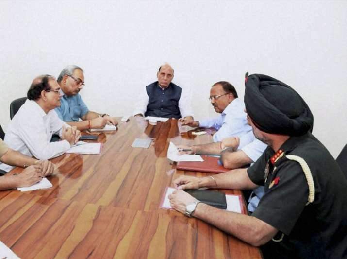 Home Minister Rajnath Singh at High level meeting after Uri