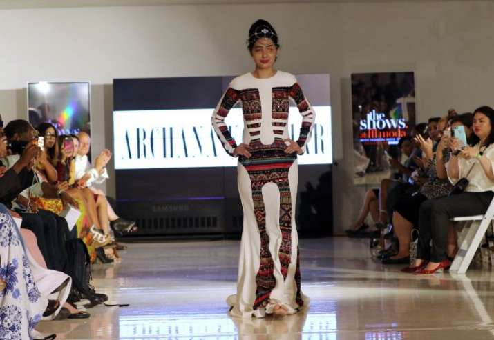 India Tv - Acid attack victim Reshma Qureshi walks ramp at NYFW