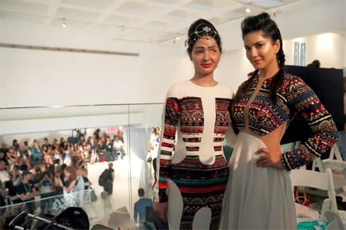 India Tv - Acid attack victim Reshma Qureshi walks ramp in New York