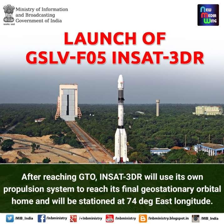 India Tv - INSAT-3DR weather satellite