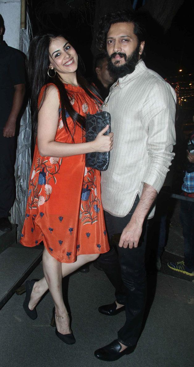India Tv - Riteish Deshmukh and Genelia D'Souza at Raj Kundra's birthday bash