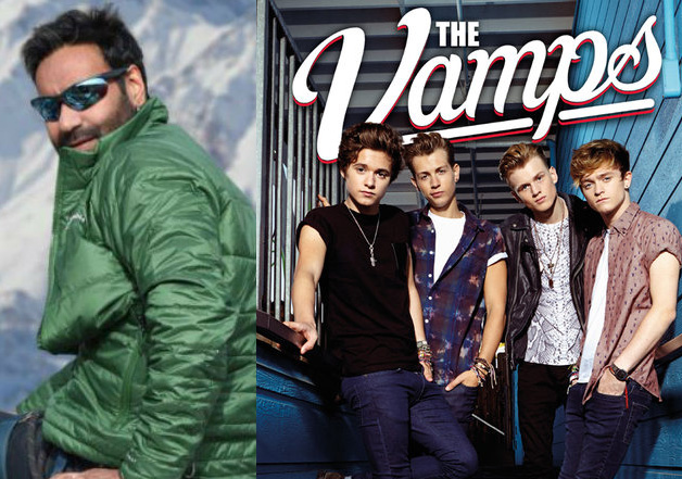 Ajay Devgn teams up with US music band 'The Vamps' for