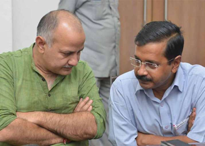Delhi Chief Minister Arvind Kejriwal and his deputy Manish