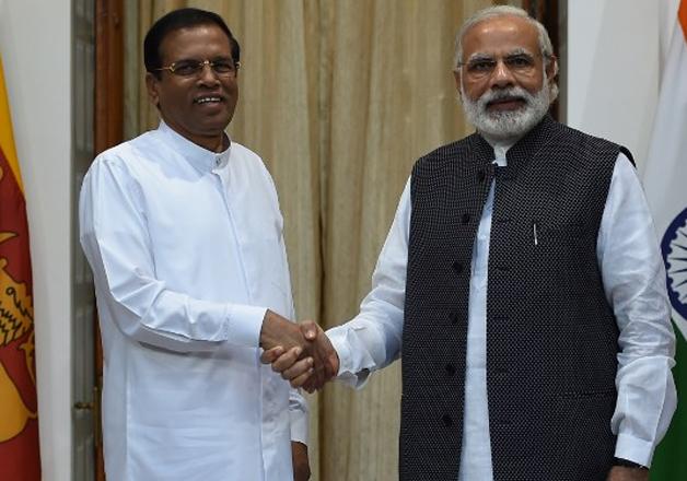 Maithripala Sirisena and Narendra Modi