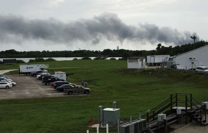 Explosion rocks SpaceX launch site