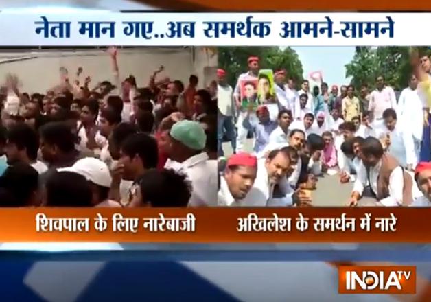 Akhilesh Yadav's supporters demand his reinstatement as