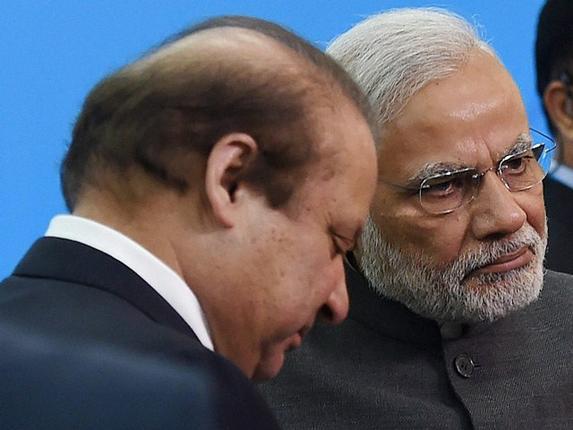 PM Narendra Modi with Pak PM Nawaz Sharif