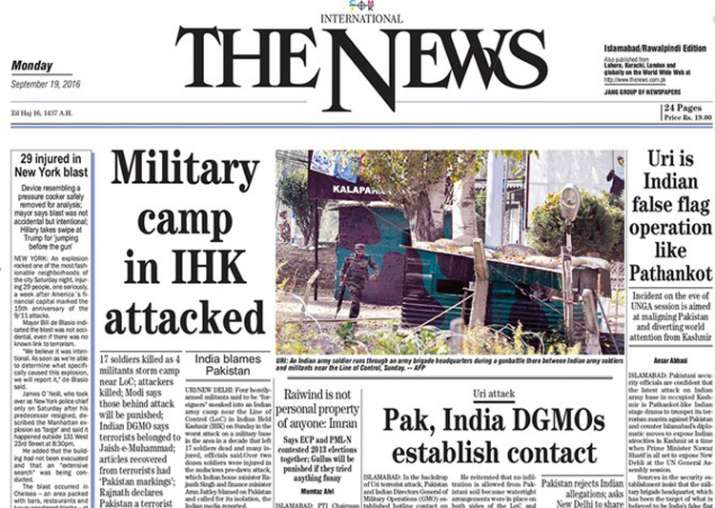 The News International on Uri attack