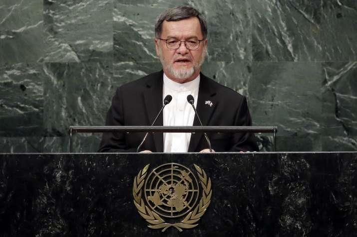 Afghan VP Sarwar Danesh addresses the 71st session of the