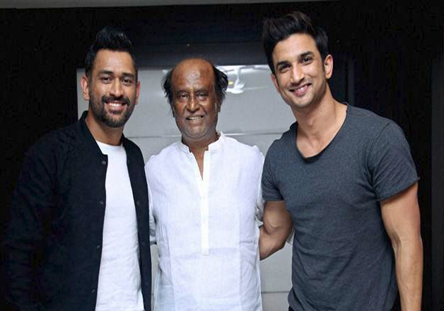 When Sushant Singh Rajput and our captain cool met megastar