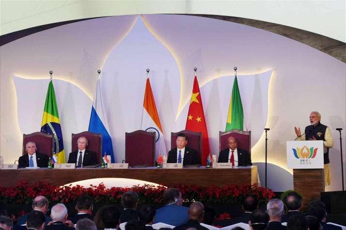 PM Modi calls for intra BRICS traget of 500 billion dollar
