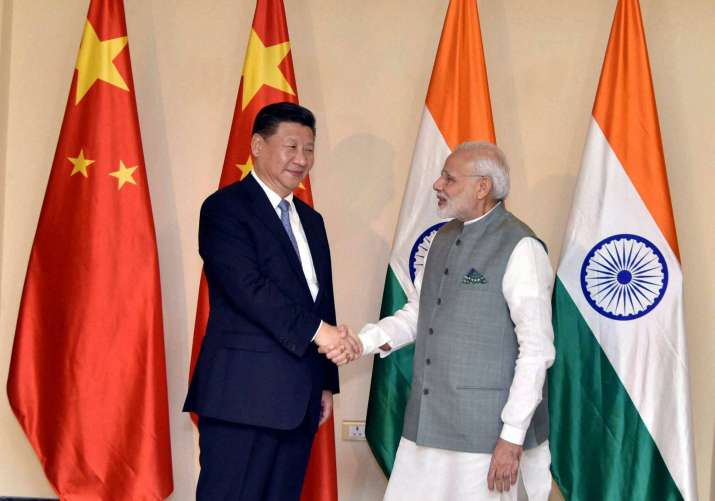 PM Narendra Modi meets Chinese President Xi Jinping in Goa