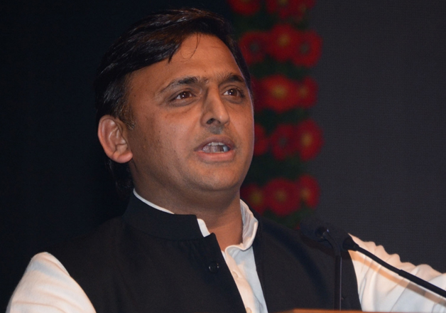 File pic - UP Chief Minister Akhilesh Yadav speaks at an