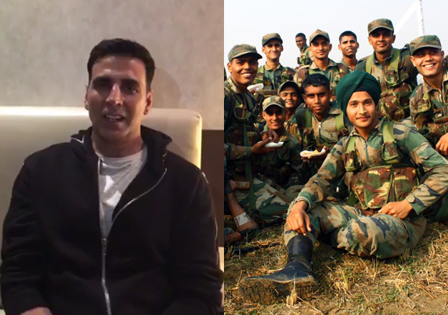 Akshay Kumar sends Diwali message to soldiers