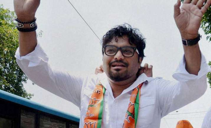 Union Minister Babul Supriyo was leading a BJP protest in
