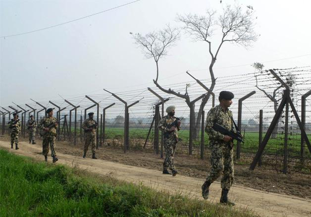 File pic - Jawans during foot patrol at Indo-Pak border