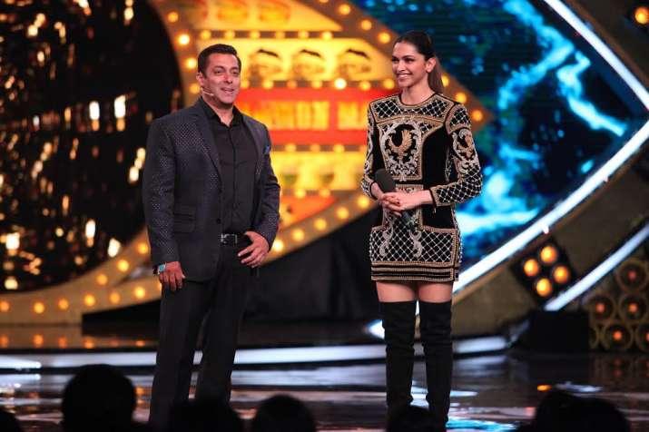India Tv - It seemed Salman and Deepika had a fun time during the shoot